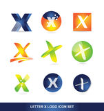Letter x logo icon set 3d Stock Images