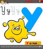 Letter y with cartoon yellow color Royalty Free Stock Photo