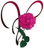 Letter Y Floral FONT Stock Images