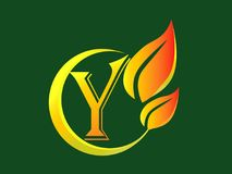 Letter Y logo stock photo