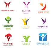 Letter Y Logo. Alphabetical Logo Design Concepts. Letter Y Royalty Free Stock Images