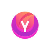 Letter Y logo abstract circle shape element. Vector round compan Stock Photo