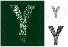 Leaves alphabet, Letter Y Stock Image