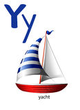 Letter Y for yacht. On a white background Royalty Free Stock Images