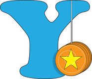 Letter Y with a YoYo stock illustration