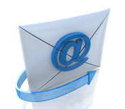 Letter and @. When you make the information related to the Internet and e-mail Stock Photo