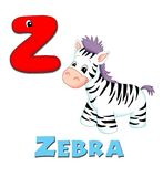 Letter Z. Alphabet for children. Page with the letter Z Royalty Free Stock Photos