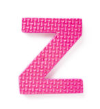 Letter Z. Isolated on the white background Royalty Free Stock Image