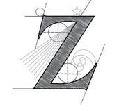 Letter Z. Vector Letter Z for design in architectural style vector illustration