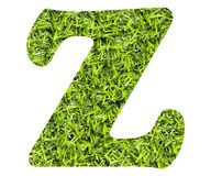 Letter Z - Artificial green grass background. Top view vector illustration