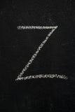 Letter Z on black chalkboard Royalty Free Stock Image