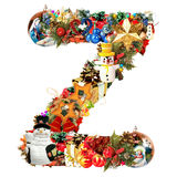 Letter Z, for Christmas decoration Royalty Free Stock Images