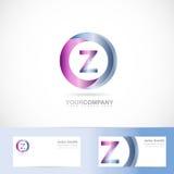 Letter Z cirlce logo Stock Image