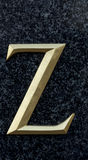 Letter Z. Classical letter Z in serif version stock photos