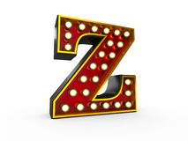 Letter Z 3D Broadway Style Stock Photo