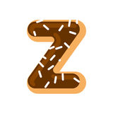 Letter Z donut font. Doughnut alphabet. Sweet lettering. candy A Stock Photo