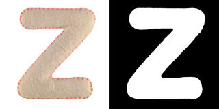 Letter Z from felt Royalty Free Stock Images