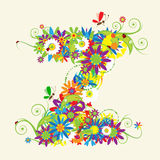 Letter Z, floral design Royalty Free Stock Photo