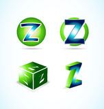 Letter Z green blue logo Stock Photography