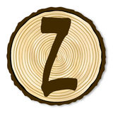 Letter Z Log End Royalty Free Stock Images