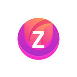Letter Z logo abstract circle shape element. Vector round compan Stock Photography