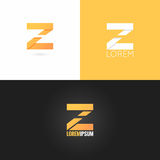 Letter Z logo design icon set background Royalty Free Stock Photography