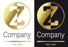 Letter Z logo. Golden bright letter Z logo vector illustration