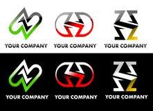 Letter Z Logo Set Stock Image