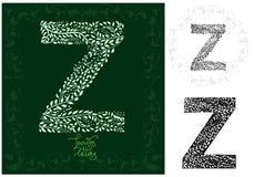 Leaves alphabet, Letter Z Stock Image