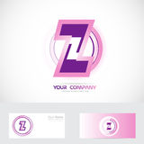 Letter Z pink logo Royalty Free Stock Photography