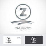 Letter Z silver grey logo icon Stock Images