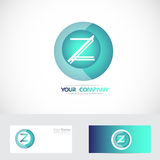 Letter Z sphere logo Stock Photography