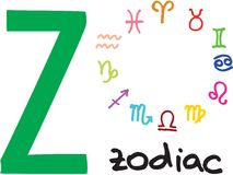 Letter Z - zodiac Stock Photo