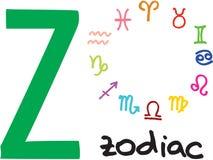 Letter Z - zodiac Stock Photo