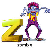 A letter Z for zombie Stock Photo