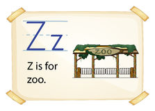 A letter Z for zoo Stock Images