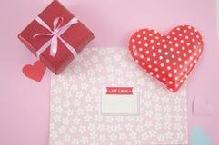 Lettera adorabile per il giorno di biglietti di S. Valentino Fotografia Stock