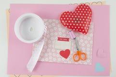 Lettera adorabile per il giorno di biglietti di S. Valentino Immagini Stock