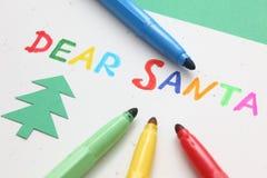 Lettera al Babbo Natale Fotografia Stock Libera da Diritti