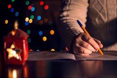 Lettera al Babbo Natale Fotografie Stock Libere da Diritti