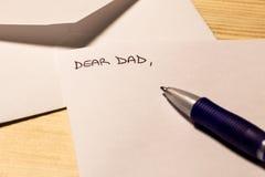 Lettera al papà Immagini Stock Libere da Diritti