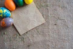 Lettera alla festa di Pasqua Fotografia Stock Libera da Diritti