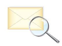 Lettera & magnifier royalty illustrazione gratis