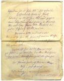 Lettera antica Fotografie Stock Libere da Diritti