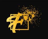 Lettera astratta F Logo Design Oro, industria di bellezza, modo ed affare dei cosmetici Logo per i saloni della stazione termale, illustrazione di stock