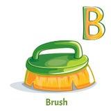 Lettera B di alfabeto di vettore spazzola Fotografia Stock Libera da Diritti