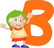 Lettera B (ragazza) di alfabeto illustrazione di stock