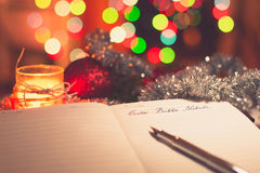 Lettera a babbo natale Stock Photography