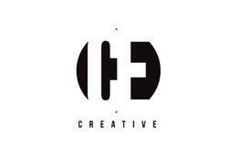Lettera bianca Logo Design del CE C E con il fondo del cerchio Immagine Stock Libera da Diritti