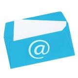 Lettera blu Fotografia Stock